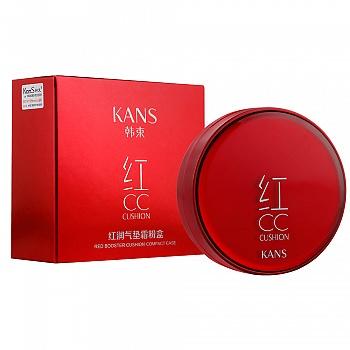 中国•韩束(KanS)红CC红润气垫霜(粉盒+替换装12g)