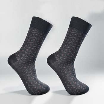 中国•2双装丝光棉精品绅士男袜 黑色