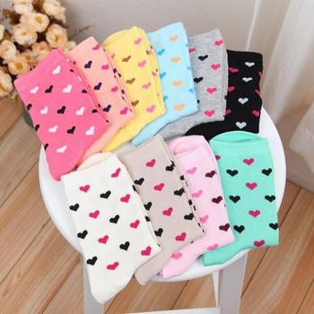 赛棉 5双装爱心中筒女袜舒适棉袜