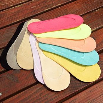 中国•10双装防滑纯色浅口隐形女船袜