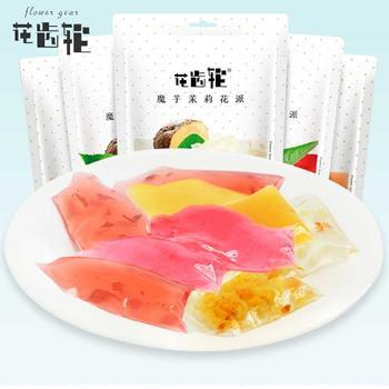 花齿轮魔芋花派450g 玫瑰花果冻布丁好吃的零食
