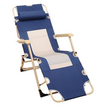 奕辰 布网加宽加固折叠椅藏青色