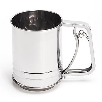 光合生活手压式杯式面粉筛不锈钢