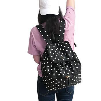中国•兰多 黑白点轻便双肩背包妈咪包