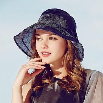中国•春夏女士大檐帽太阳帽
