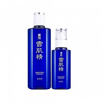 日本•雪肌精花漾雪颜两件组(化妆水330ml+乳液130ml)