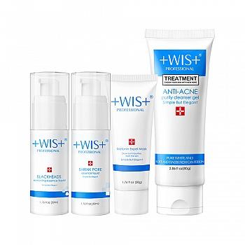 中国•WIS去黑头洁面护肤套装
