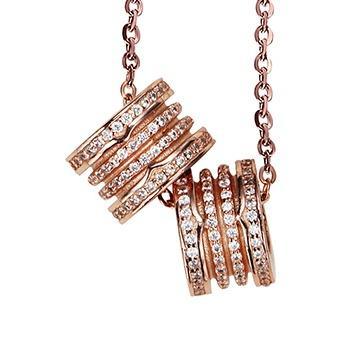 925银时尚一款三戴吊坠项链