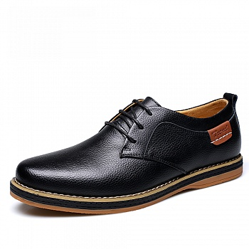 中国•承发男士真皮系带休闲鞋 22977黑色