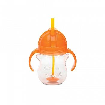 美国•munchkin 满趣健 幼儿7盎司click lock 翻斗杯(适合六个月以上宝宝使用)橘黄色