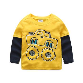 贝壳元素男童长袖t恤秋装卡通t恤打底衫tx4113