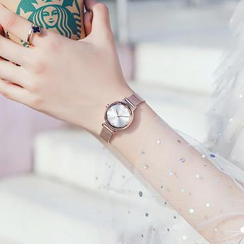 聚利时金色时尚精钢防水女士手表