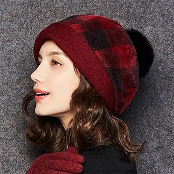 中国•kenmont帽子女冬天户外针织帽2559