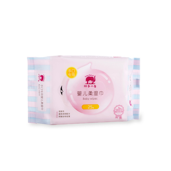 中国•红色小象手口专用婴儿柔湿巾 25p