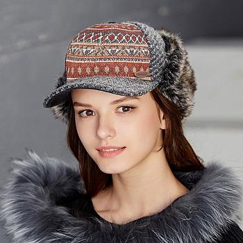 中国•kenmont鸭舌帽女冬棒球帽护耳帽2518