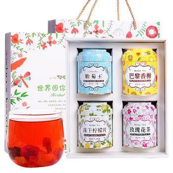 【4罐装】四月茶侬 花草茶礼盒300g