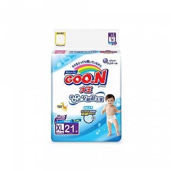 日本•GOO.N® 大王环贴式纸尿裤 维E系列 XL21片