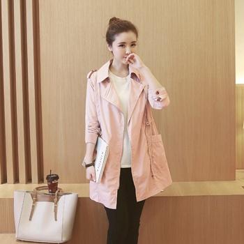 中国•蚕坊俪孕妇风衣长袖粉色