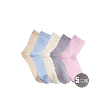 中国•聚美优选日系素色女袜(5双装)