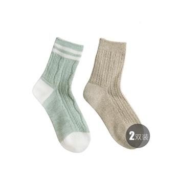 中国•聚美优选进口羊毛加厚保暖袜(2双装)