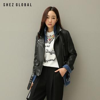 中国•韩版SZ新款短款pu皮外套翻领夹克