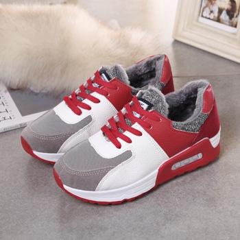 娅莱娅韩版潮运动鞋女鞋平底鞋红