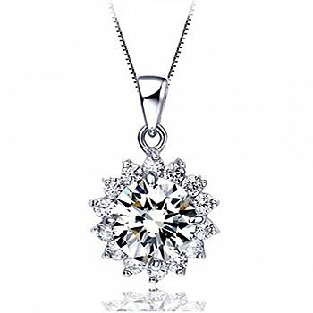 中国•畅销女款时尚925银明日之星项链