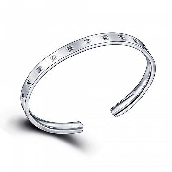 中国•990纯银时尚微镶手镯首饰