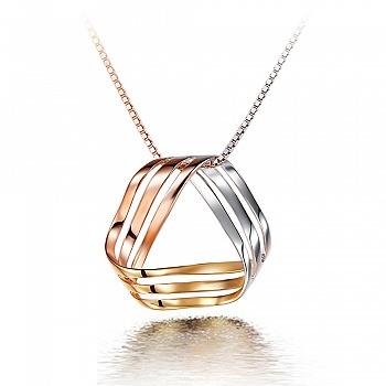 中国•925银璀璨三生缘时尚三色项链