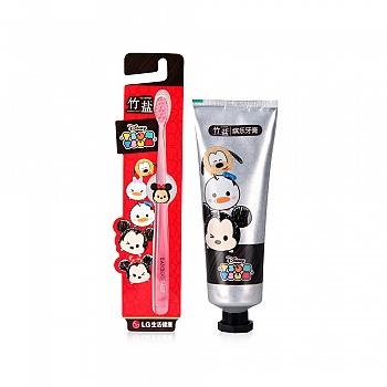 韩国•LG竹盐tsum tsum系列产品组合装(迪士尼缤乐系列)(牙膏100g+牙刷1支)