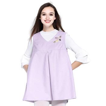 婧麒云雕防辐射服孕妇装淡紫色