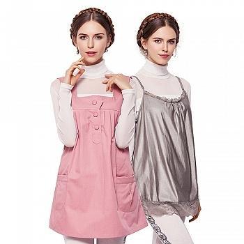 婧麒孕妇防辐射服B套装粉红