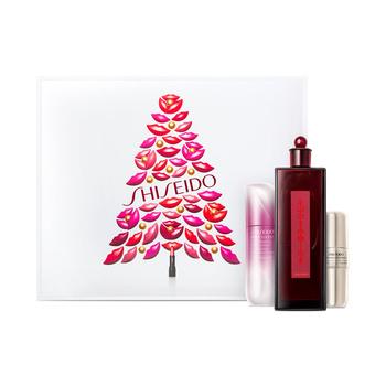 日本•资生堂(Shiseido)红色蜜露祛斑修护礼盒四件套(百优优效修护眼霜15ml+红色蜜露精华化妆液200ml+新透白美肌集光祛斑精华液30ml+礼盒多款随机)