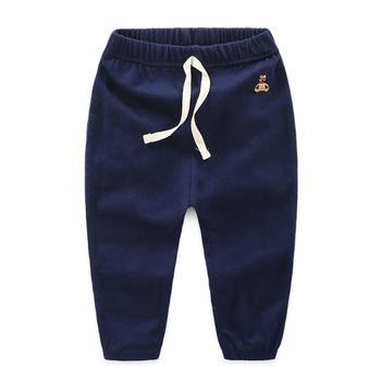 贝壳元素长裤夏装男女童宽松空调裤子薄kz9563