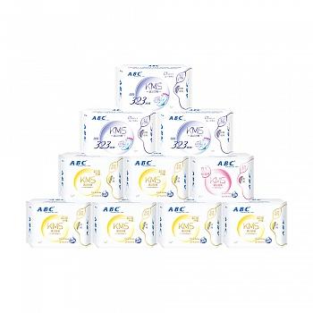 中国•ABC棉柔卫生巾防侧漏日夜组合装 10包(日48片+夜8片+323mm夜用9片)