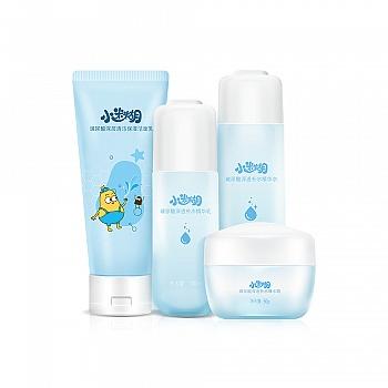 中国•小迷糊玻尿酸深透补水护肤4件套(玻尿酸洁面+水+乳+爆水霜)