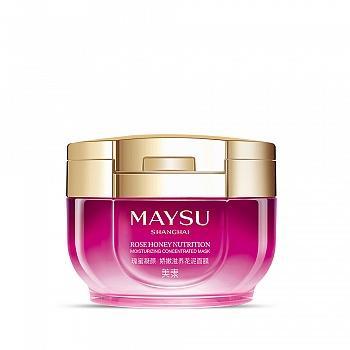 中国•美素(MAYSU)瑰蜜凝颜娇嫩滋养花泥面膜 90g