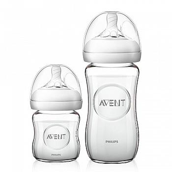 英国•飞利浦新安怡宽口径自然系列玻璃奶瓶新生儿套装(4oz & 8oz 奶瓶)