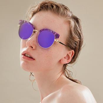 威古氏圆脸偏光墨镜女士太阳镜