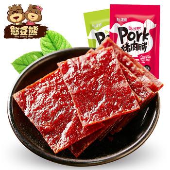 【憨豆熊】原味 猪肉脯100g