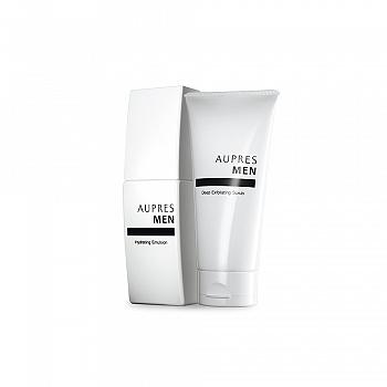中国•欧珀莱 (AUPRES)俊士磨砂护肤二件套(磨砂洁面膏125g+滋润凝乳100ml)