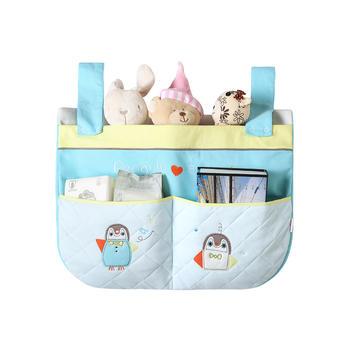 中国•澳斯贝贝 婴儿床挂袋 尿布收纳袋