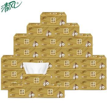 清风金装抽纸3层130抽共24包