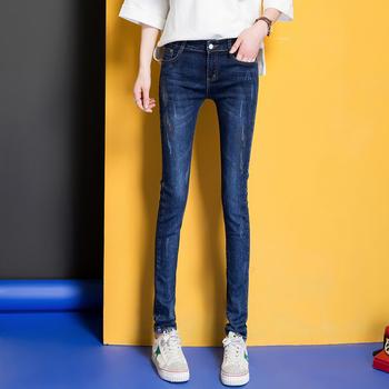 中国?女裤新款牛仔裤W6102女时尚经典