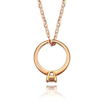今上珠宝 18K金钻石项链女