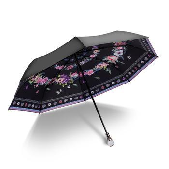 德国iRain三折绽放防紫外线晴雨伞