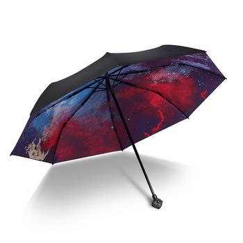 德国iRain三折星空水钻太阳伞