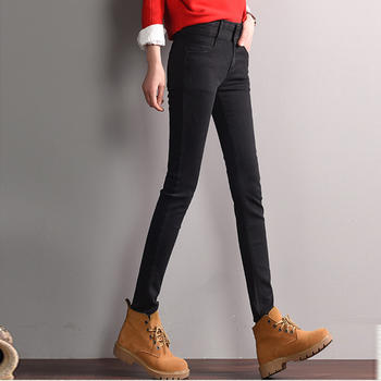新款多牛仔裤女 显瘦W585A高腰