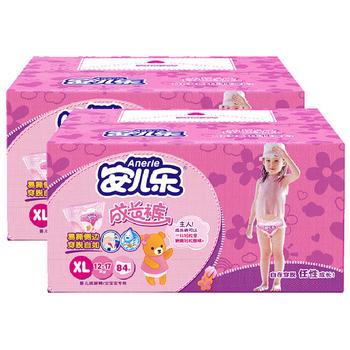 安儿乐成长裤女宝XL84片*2箱