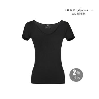 中国•聚美优选V领修身短袖T恤